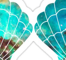 Green Galaxy Mermaid (V-Neck) Sticker