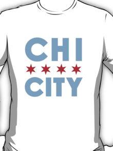 Chi City White Vneck Tee T-Shirt