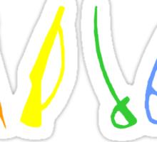 Marching Arts Rainbow  Sticker