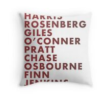 Buffy The Vampire Slayer All Business Surnames Throw Pillow