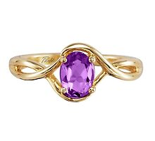 14K Yellow Gold Amethyst Ring by hengestone