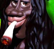 Rastaman Marijuana Caricature 3d Sticker