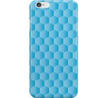 gradient blue hexagon pattern background iPhone Case/Skin