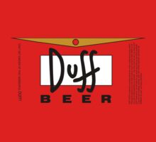 Duff beer label by vagata