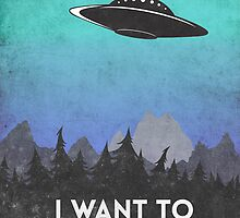 I want to believe UFO2 by Watercolorsart