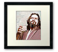 Big Lebowski DUDE Portrait Framed Print