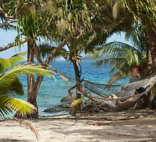 Relaxing in a tropical hammock by photoeverywhere