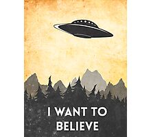 I want to believe UFO3 Photographic Print