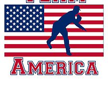 Baseball Pitcher American Flag Team America by kwg2200