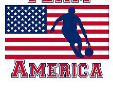 Basketball Dribble American Flag Team America by kwg2200