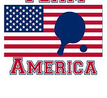 Table Tennis American Flag Team America by kwg2200