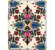 Bright Folk Art Pattern - hot pink, orange, blue & green iPad Case/Skin