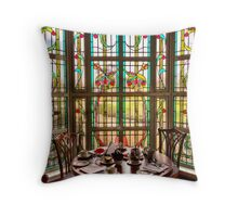 Art Deco Window Throw Pillow