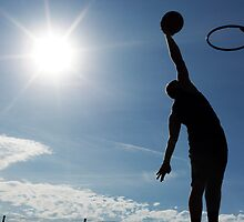 Basketball Silhouette Slam Dunk by icsnaps