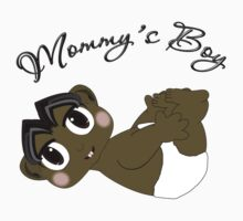 Mommy's Boy Black Hair and Brown Eyes by Chere Lei