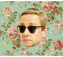 A Very Floral Martin Freeman Photographic Print