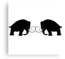 2 Mammoths Canvas Print