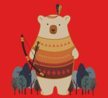 Brave Indian Bear Kids Clothes