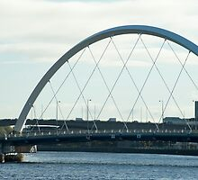 The Clyde Arc in Glasow, Scotland by photoeverywhere