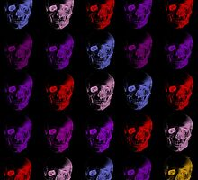 Colorful X Ray Skulls by ArtVixen