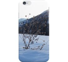 Alone in snow iPhone Case/Skin