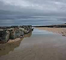 Bamburgh Beach by English Landscape Prints