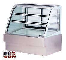 Curved Glass Refrigerated Deli Case Spartan SD-48 by usaequipmentdir
