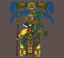 Great Mayan ruler of Tikal on his throne by Gwendal
