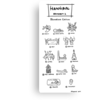 Hannibal - Season 1: Bloodless Edition Canvas Print