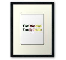 Cameroonian Family Inside  Framed Print