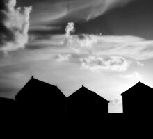 Beach Huts, Heacham, Norfolk, UK. by Billlee