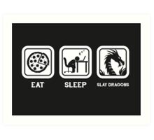 Eat, Sleep, Save Dragons (Repeat) Art Print