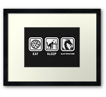 Eat, Sleep, Save Dragons (Repeat) Framed Print
