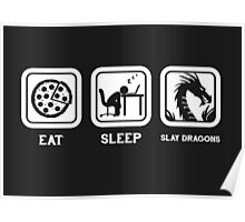 Eat, Sleep, Save Dragons (Repeat) Poster