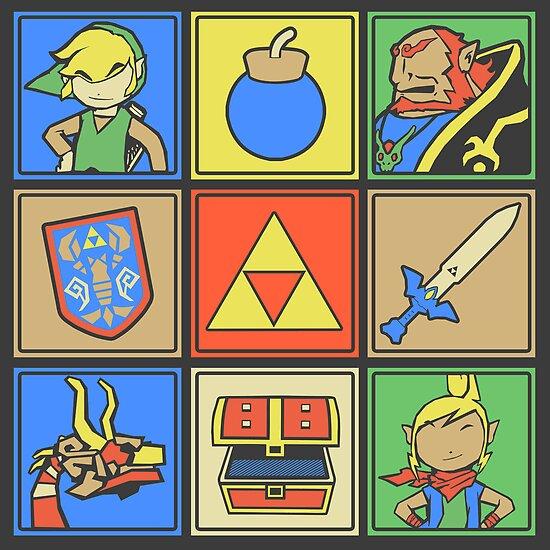 Zelda Pop Art by thehookshot