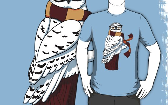 Hipster Owl by Stephanie Jayne Whitcomb