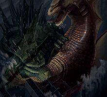 Godzilla vs Titanosaurus by Ericroseart