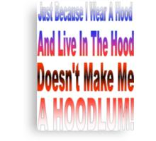 Hoodlum Canvas Print