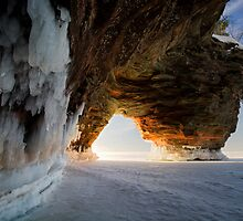 Fire and Ice, Apostle Islands, WI by Michael Treloar
