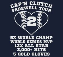 Yankees Captain Clutch Derek Jeter Baseball Heart T Shirt by xdurango