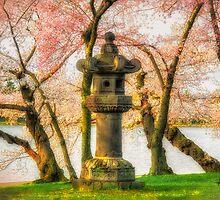 Japanese Stone Lantern by Lois  Bryan