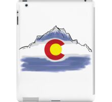 Colorado flag artistic mountain scene iPad Case/Skin