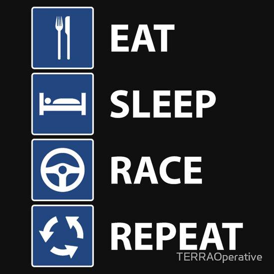 eat sleep race logo - photo #10