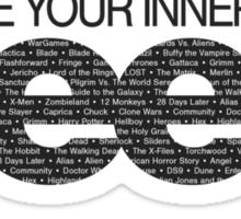 Embrace Your Inner Geek (Black) Sticker