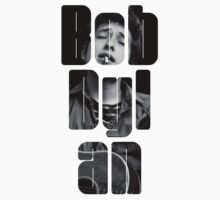 Bob Dylan Font Black And White by gakest