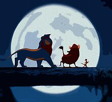 Lion King Simplified Stylish Print. Hakuna Matata by Colin Bradley