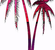 Pink Sunset Palm Tree  by smentcreations