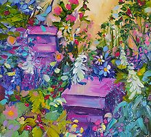 Beehives in the Garden Traditional Fine Art Oil Painting by Ekaterina Chernova by Ekaterina Chernova