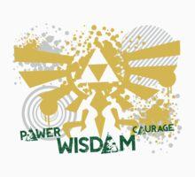 Power, Wisdom, Courage Street Art by garywithrow