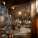 Train - Ready in the roundhouse by Mike  Savad